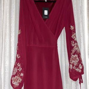Fashion Nova Trophy Wife Embroidered dress